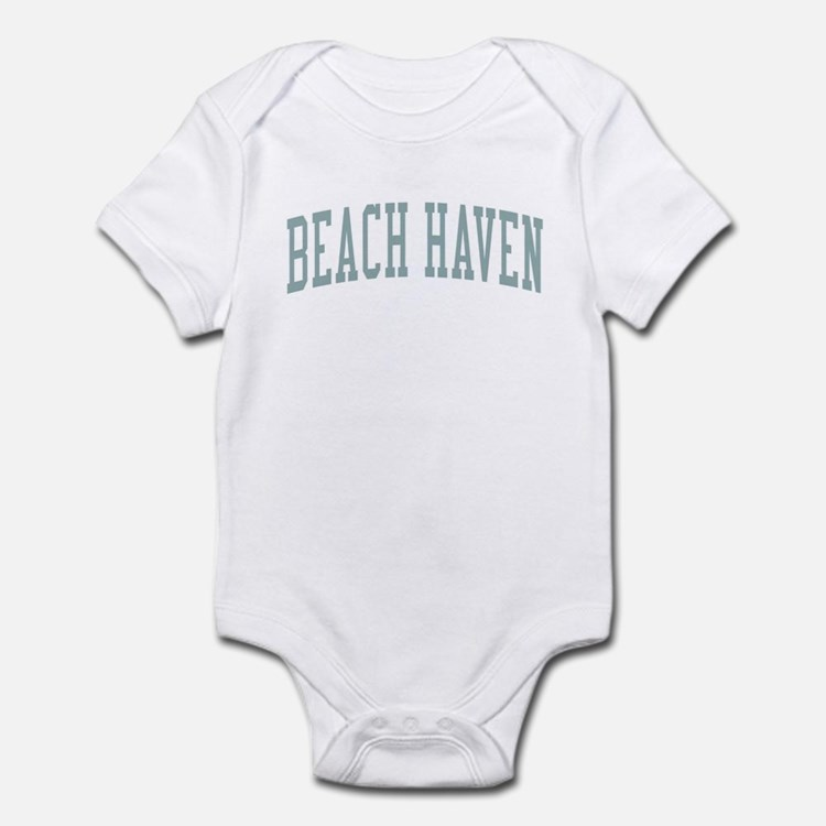 Beach Haven New Jersey NJ Green Infant Bodysuit