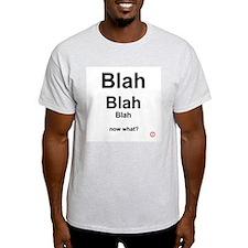 blah Ash Grey T-Shirt