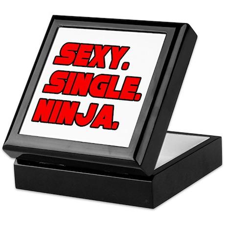 """Sexy. Single. Ninja."" Keepsake Box"