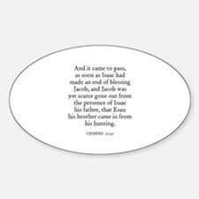 GENESIS 27:30 Oval Decal