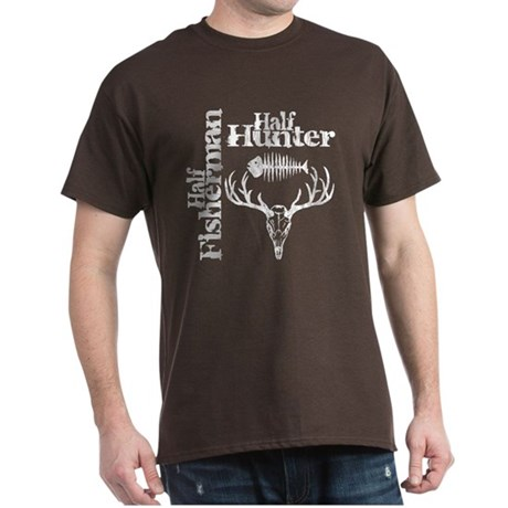 Half Fisherman. Half Hunter. Dark T-Shirt