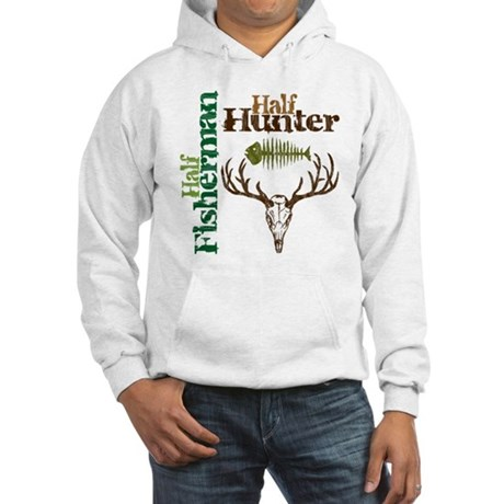 Half Fisherman. Half Hunter. Hooded Sweatshirt
