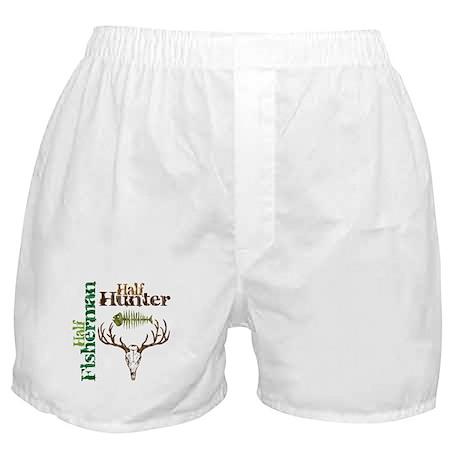 Half Fisherman. Half Hunter. Boxer Shorts
