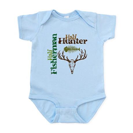 Half Fisherman. Half Hunter. Infant Bodysuit