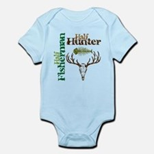 Half Fisherman. Half Hunter. Infant Bodysuit