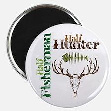 Half Fisherman. Half Hunter. Magnet