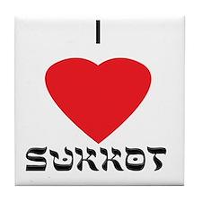 I (heart) Love Sukkot Tile Coaster