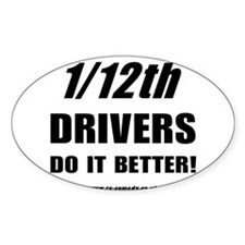 1/12th driver Oval Decal