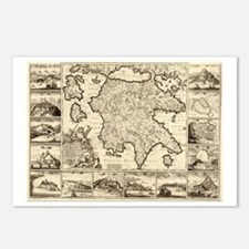 Ancient Greece Map Postcards (Package of 8)