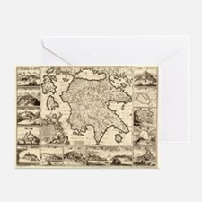 Ancient Greece Map Greeting Card
