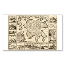 Ancient Greece Map Rectangle Decal