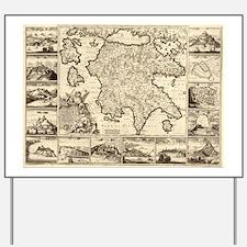 Ancient Greece Map Yard Sign