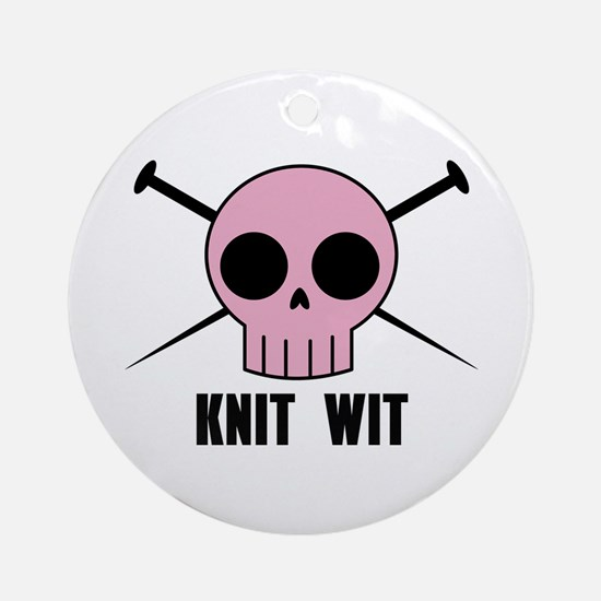 Knit Wit Ornament (Round)