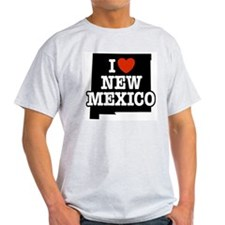 I Love New Mexico Ash Grey T-Shirt
