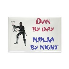 Dan - Ninja by Night Rectangle Magnet
