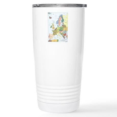 Europe Map Stainless Steel Travel Mug