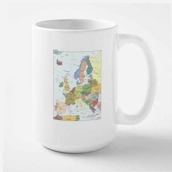 Europe Map Large Mug