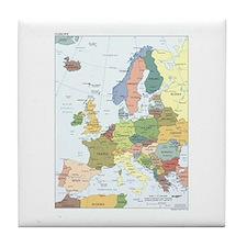 Europe Map Tile Coaster