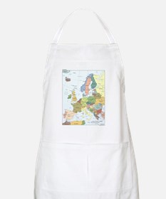 Europe Map BBQ Apron