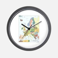 Europe Map Wall Clock