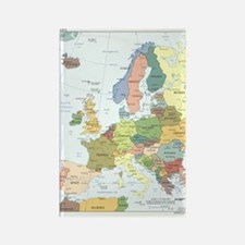 Europe Map Rectangle Magnet