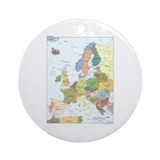 Europe Map Ornament (Round)