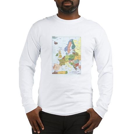 Europe Map Long Sleeve T-Shirt