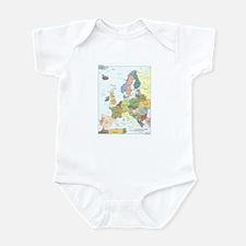 Europe Map Infant Bodysuit