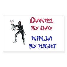Daniel - Ninja by Night Rectangle Decal