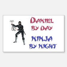Daniel - Ninja by Night Rectangle Decal