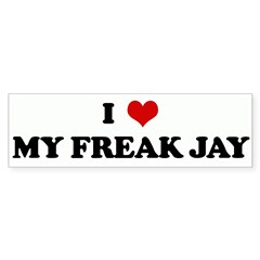 I Love MY FREAK JAY Bumper Sticker (10 pk)