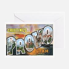 Provo Utah UT Greeting Card