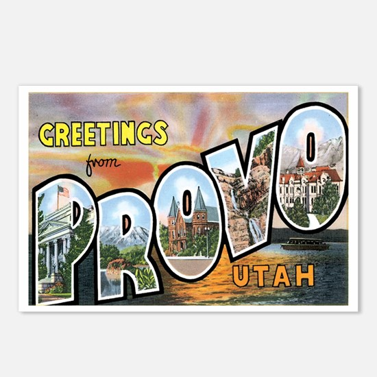 Provo Utah UT Postcards (Package of 8)