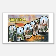 Provo Utah UT Rectangle Decal