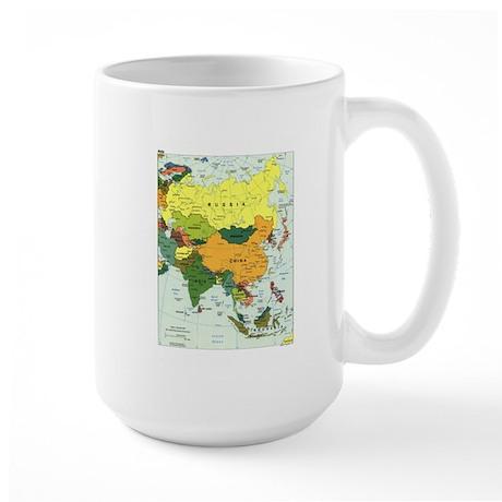 Asia Map Large Mug