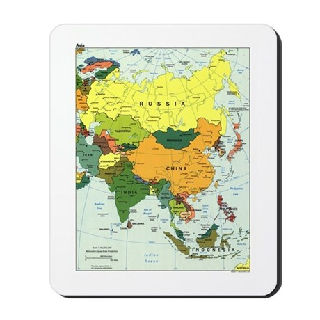 Asia Map Mousepad