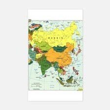 Asia Map Rectangle Decal