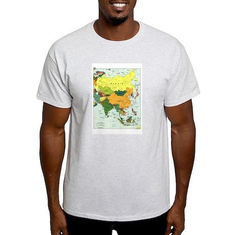Asia Map Light T-Shirt