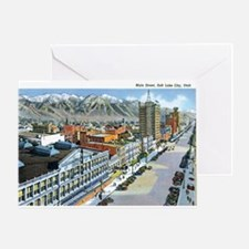 Salt Lake City Utah UT Greeting Card