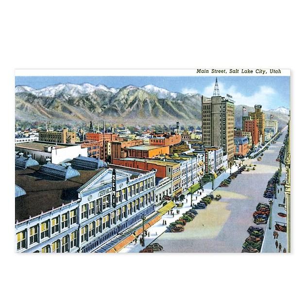 Salt Lake City Utah Ut Postcards Package Of 8 By Caferetro