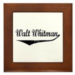 Walt Whitman Framed Tile