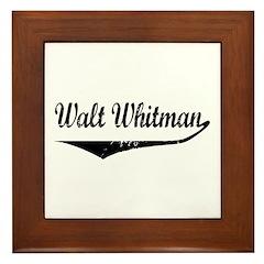 Walt Whitman Framed Tile