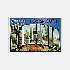 Portsmouth VA Rectangle Magnet