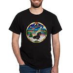 XmasMusic 3/Dachshund 17 Dark T-Shirt