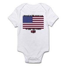 Cute I bleed white and blue Infant Bodysuit