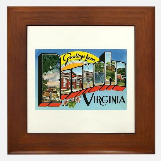 Roanoke VA Framed Tile