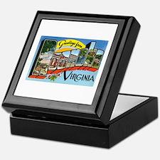 Roanoke VA Keepsake Box
