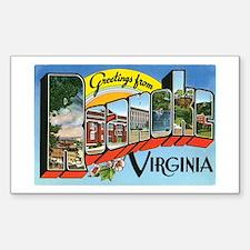 Roanoke VA Rectangle Decal