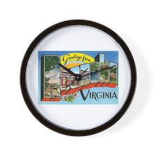 Roanoke VA Wall Clock