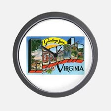Roanoke VA Wall Clock